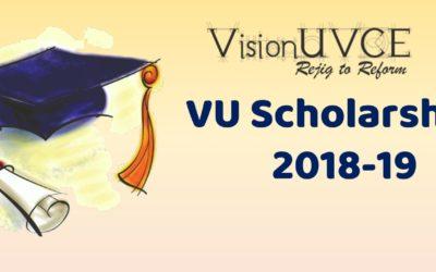 VisionUVCE Scholarships List 2018-19