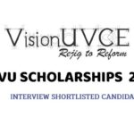 VU Scholarships 2021 Interview Shortlisted Candidates