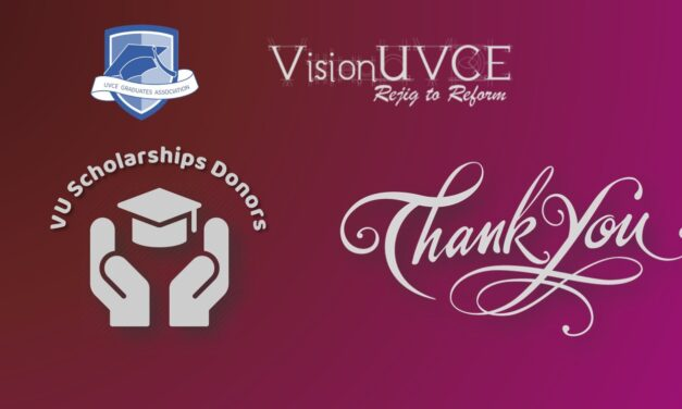 VisionUVCE Scholarships 2020-21 Donors