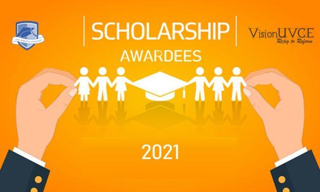 VisionUVCE Scholarships List 2021